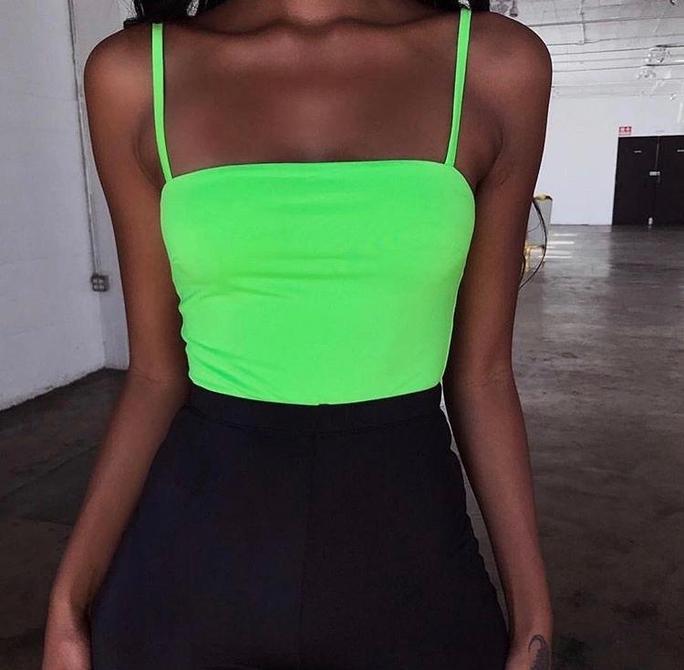 e5fb2ad02a7f Body Neon Fluor Decote Reto Feminino Moda Verão 2019 - R$ 98,00 em ...