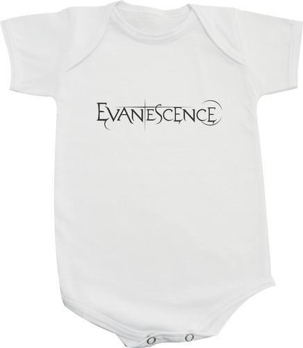 body ou camiseta infantil evanescence - rock classico