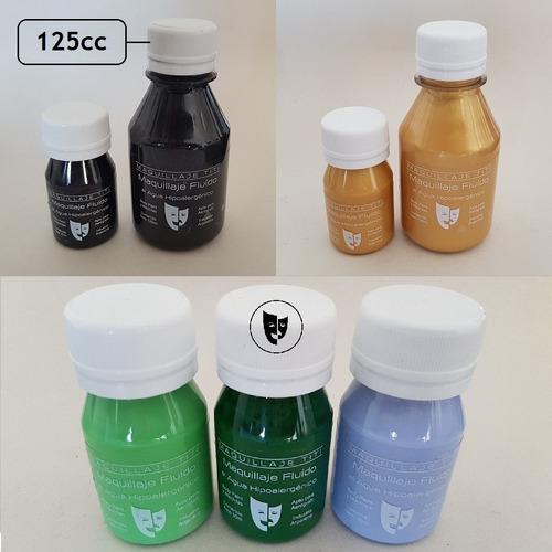 body paint al agua maquillaje titi 125cc - verde