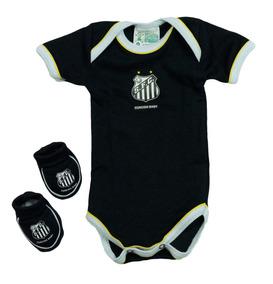 af9c2a737 Body + Pantufa Oficial Licenciado Santos Futebol Clube Baby