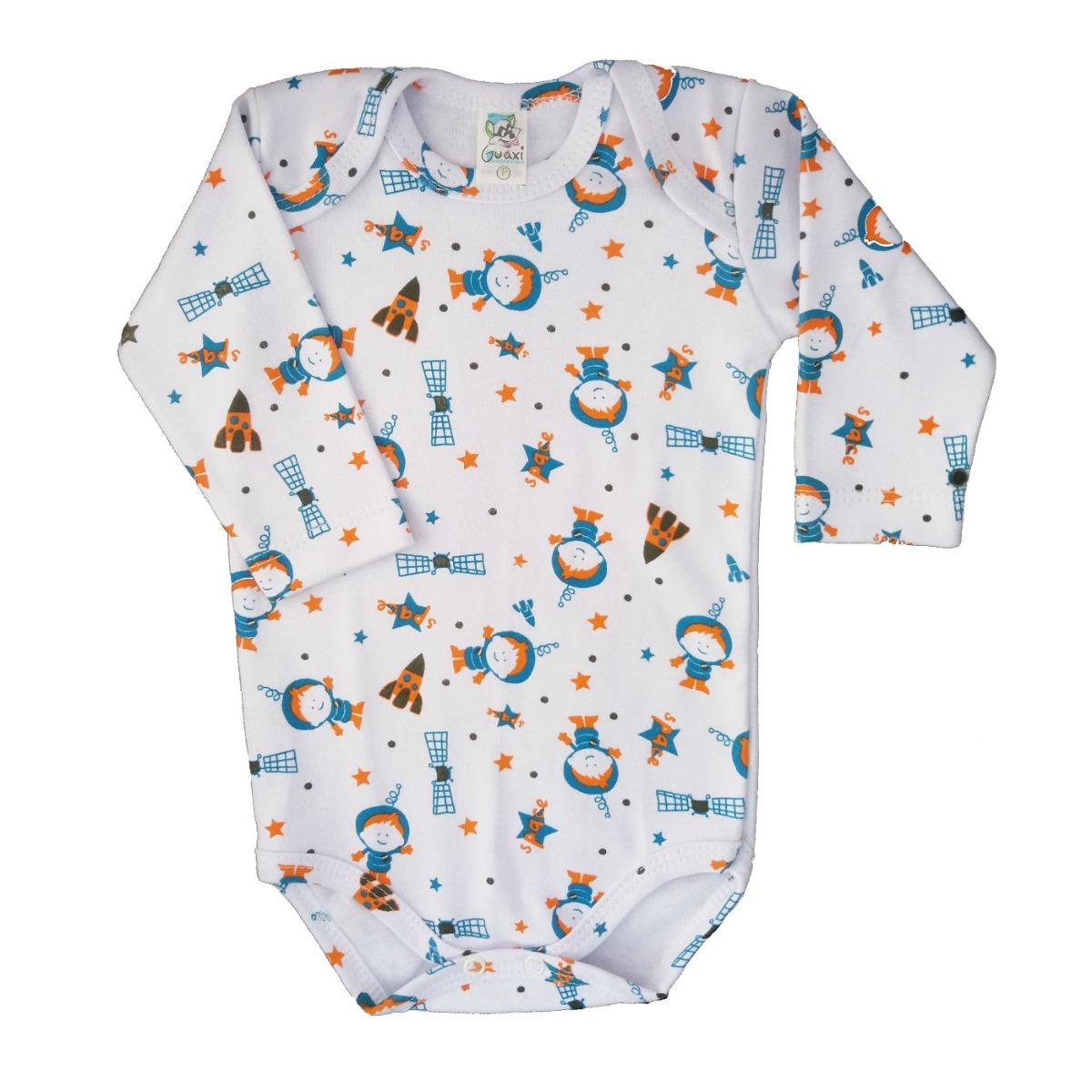 fa2bc0994 Body Para Bebê 1 2 3 Anos Bodies Infantil Manga Longa Boris - R  59 ...