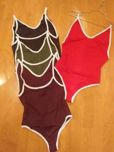 body para dama doble uso (con pantalón o como traje de baño)