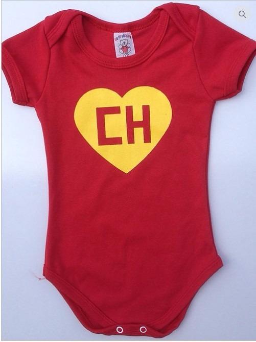 6a24d2e56 Body Personalizado Bebê Infantil Chapolin Colorado Polegar - R  25 ...