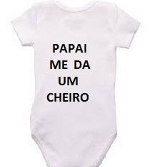 body personalizado infantil 100% algodão