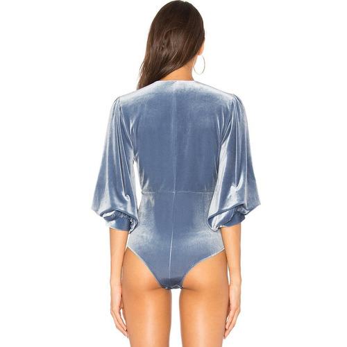 body polera terciopelo mujer azul