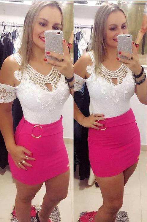 45ec54272 Body Renda Feminino Rendado Bordado Moda Instagram - R  54