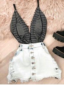51ded7983 Body Rendado Bori Blogueira Instagram - Calçados