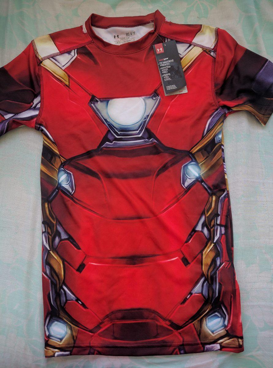 b062786796 Body Súper Héroes Under Armour Ironman Superman Batman Capit ...