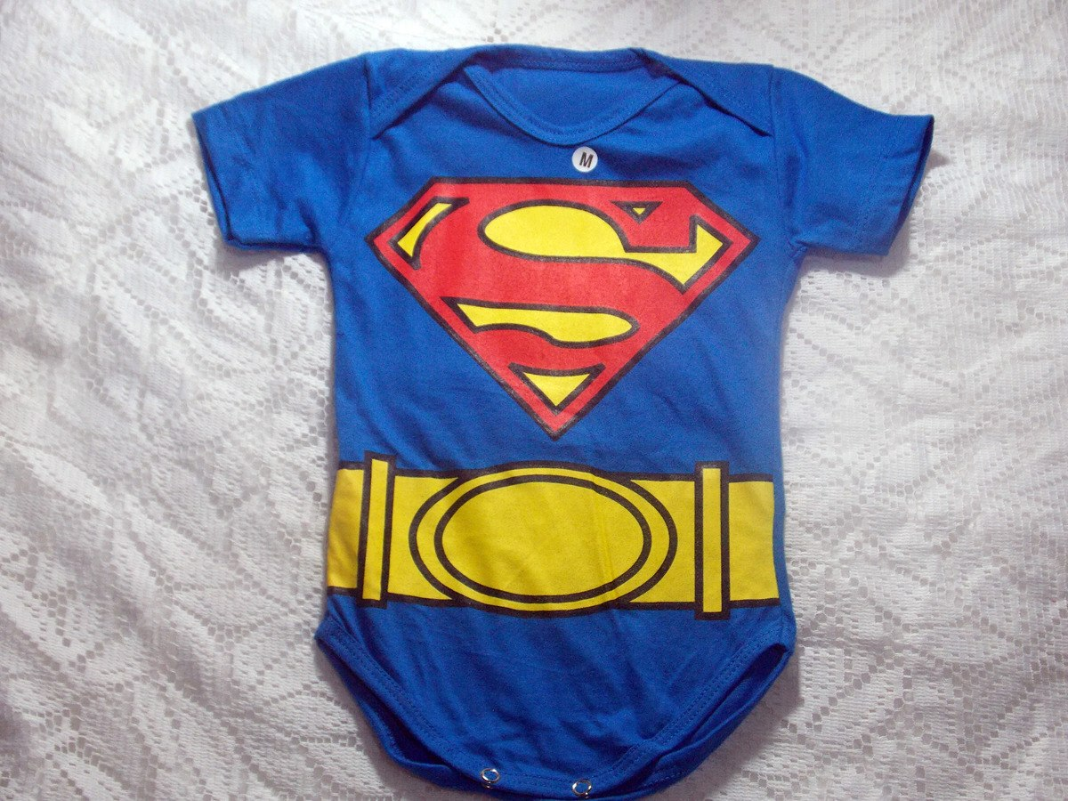 Body Super Homen Roupa De Bebê Super Herói Menino Masculino - R  16 ... 8629b90105e