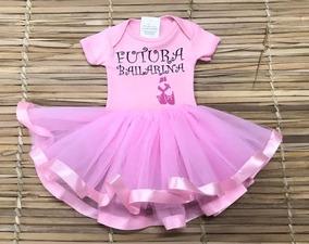 636a821dc0 Body Com Tutu De Bailarina Baby Gear no Mercado Livre Brasil