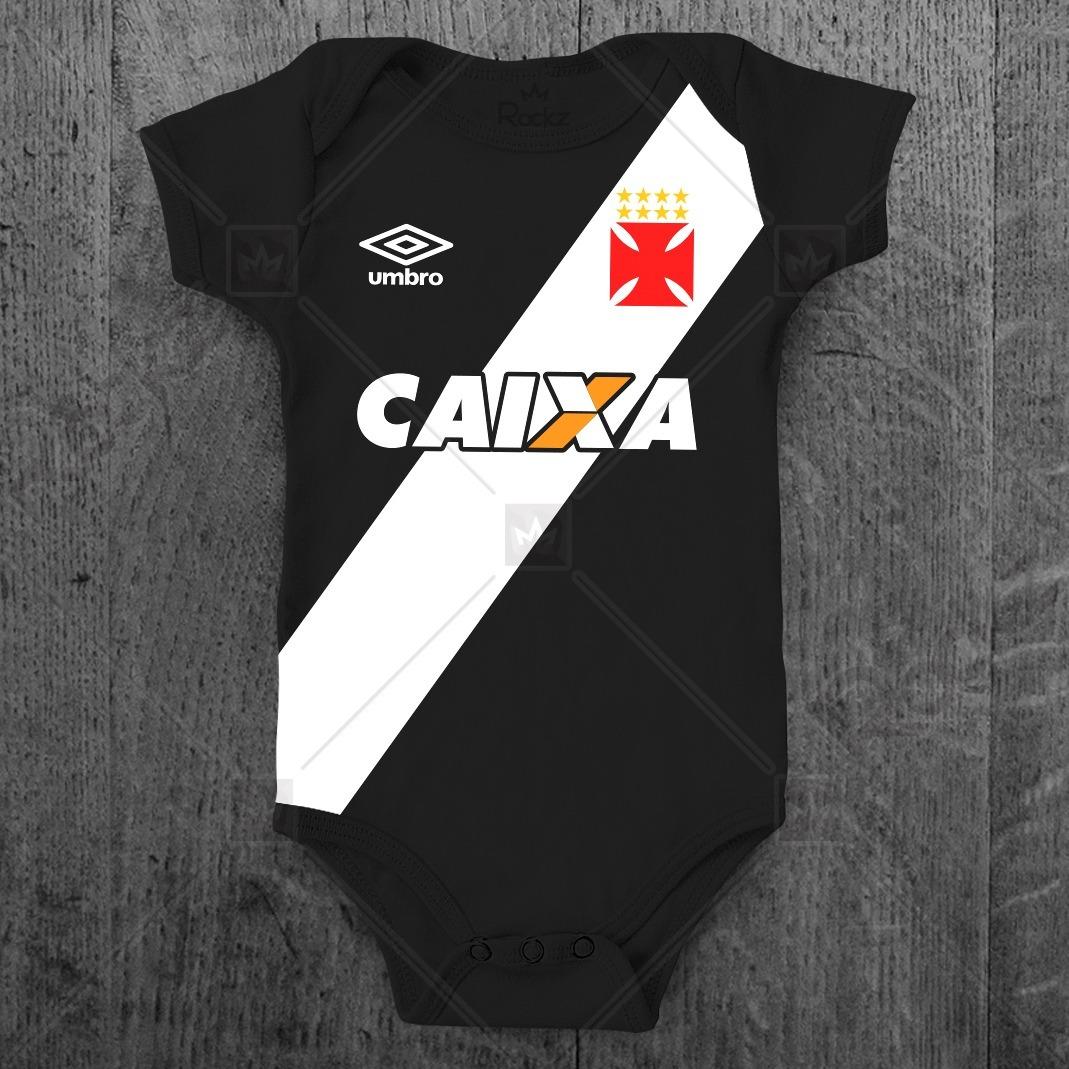 Body Vasco Da Gama Infantil Personalizado C  Nome Bebê - R  49 918dec28c78d1