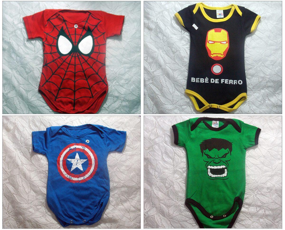 body vingadores roupa de bebê masculino menino. Carregando zoom. fb56c986e25