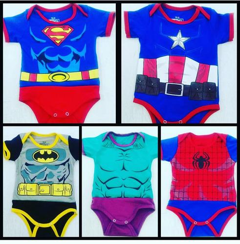 bodys de bebe super heroes combo madre e hijo
