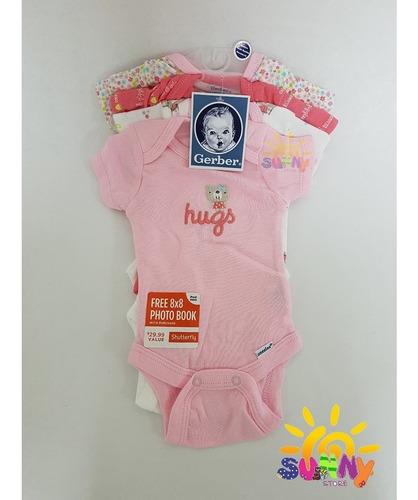 bodys gerber 4 piezas de bebe ropa de niña