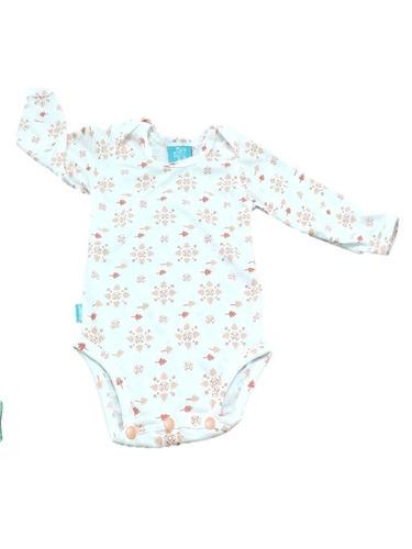 bodys mameluco  estampado manga larga en algodón bebes bodi