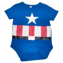 Body Mameluco Niños Bebé Capitán América