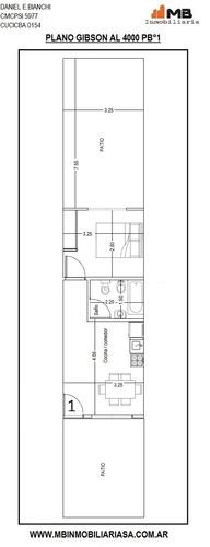 boedo ph de 2amb.c/doble patio en gibson al 4000 pb°1