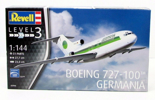 boeing 727-100 germania airlines  escala 1/144 revell 03946