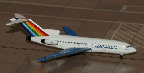 boeing 727-100 transbrasil pt-tyh 1:400 aeroclassics