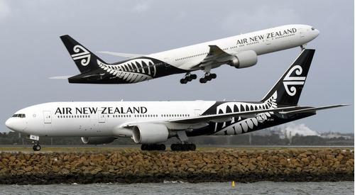 boeing 777-300er air new zealand 1:200 hogan c/trem de pouso