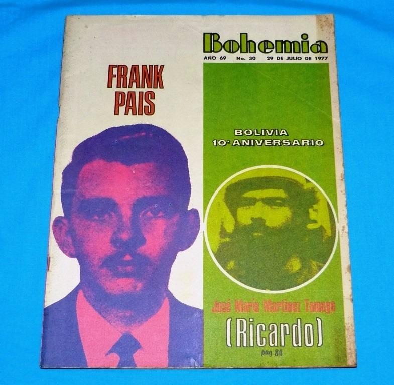 bohemia 1977 cuba frank pais fidel castro revolución bolivia