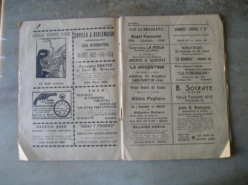 bohemia semanario antiguo 1913 ed. en rosario (argentina)