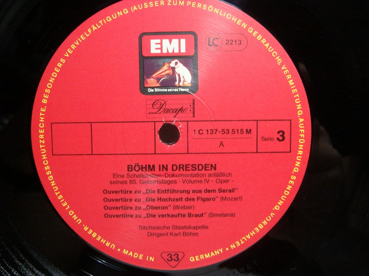 Bohm In Dresden Staatskapelle Vinilo 6lp Opera Emi 33rpm 350000