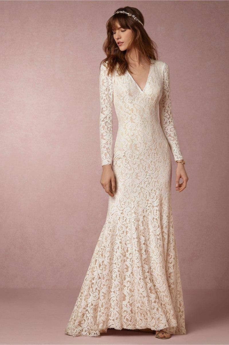 Vestido de noiva longo com renda – Vestidos de noche con estilo 2018