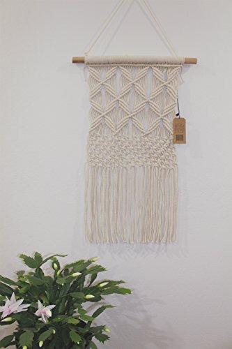 boho macrame hanging wall decor: arte de pared decorativo co
