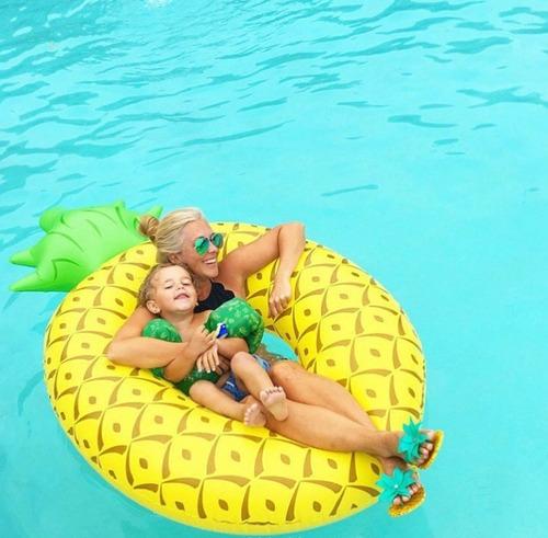 boia abacaxi inflável gigante redonda - pronta entrega