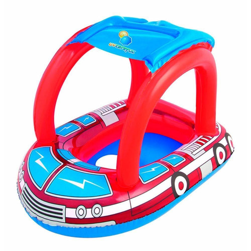 boia bote bebê, cobertura infantil inflável  carrinho 50+upf