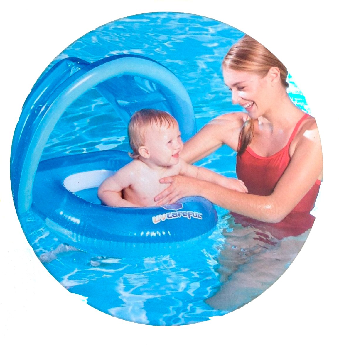 B ia bote beb inflavel c cobertura solar 50 upf piscina for Piscinas bebes