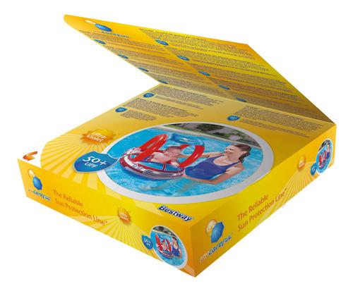 boia bote inflável p/ piscina carro de bombeiro c/ cobertura