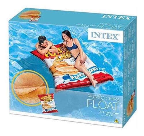 boia colchão inflável formato batata chips gigante 178x140cm