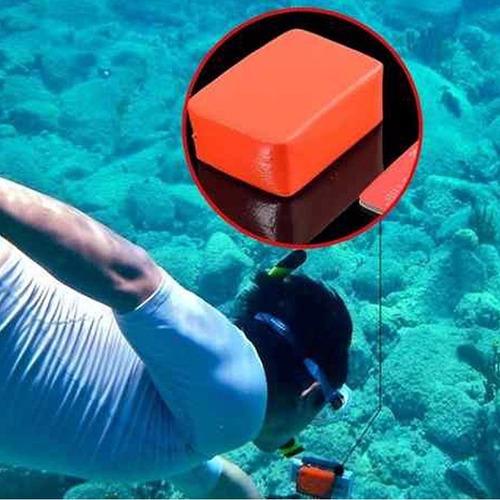 boia de flutuação com adesivo 3m para go pro backdoor bóia