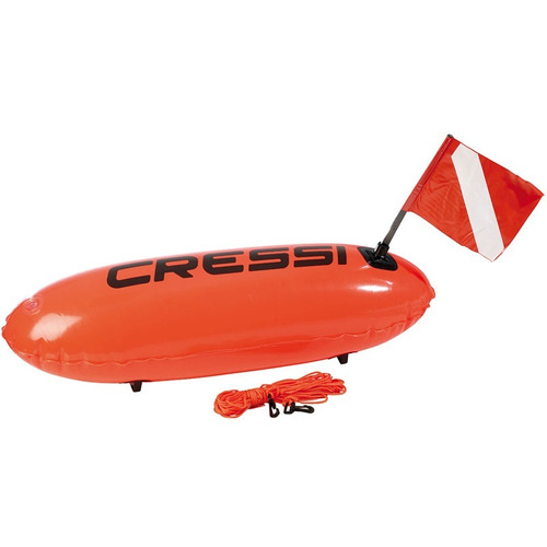 boia de mergulho de sinalização torpedo cressi