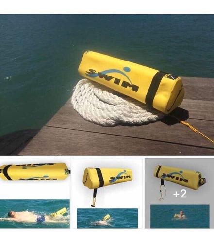 bóia de natação para sinalização e segurança no mar
