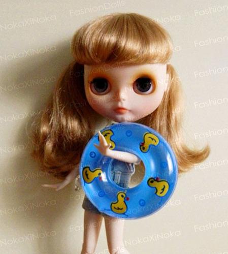 bóia de praia piscina p/ boneca blythe pullip dal *miniatura