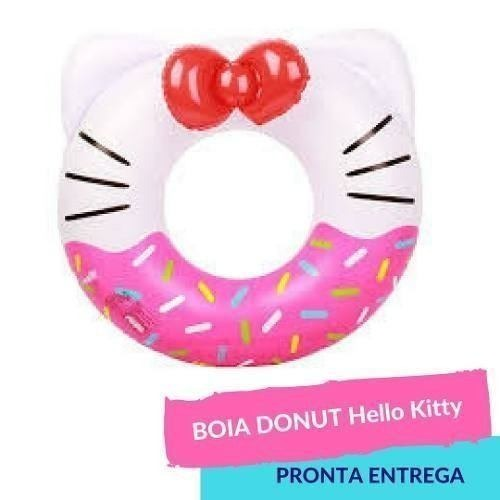 Boia Donut Orelhinha Hello Kitty Pool Party