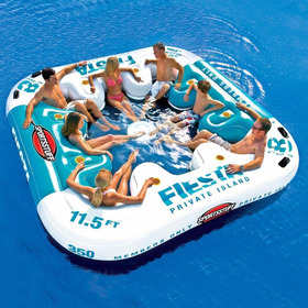 Boia Fiesta Ilha Flutuante Inflavel 8 Pessoas Pronta Entrega