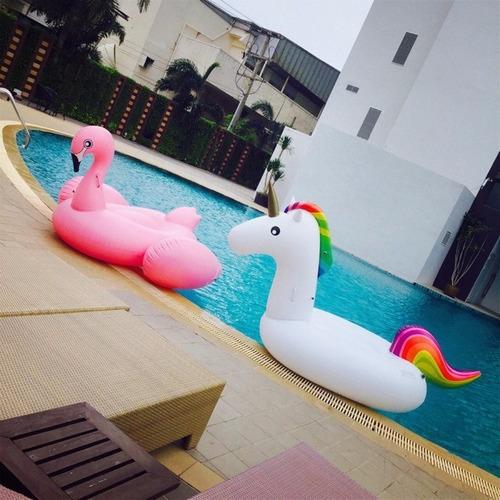 boia flamingo gigante inflável pbx piscina 1,98x1,08