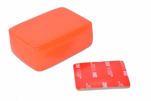 boia flutuação gopro adesivo 3m floaty backdoor ( laranja )