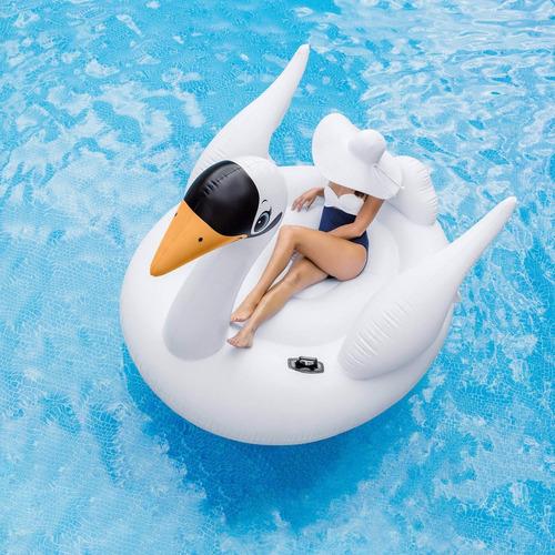 boia inflável fashion bote cisne gigante 194 cm intex