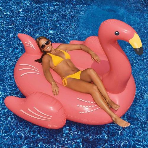 boia inflavel flamingo gigante swimline pronta entrega