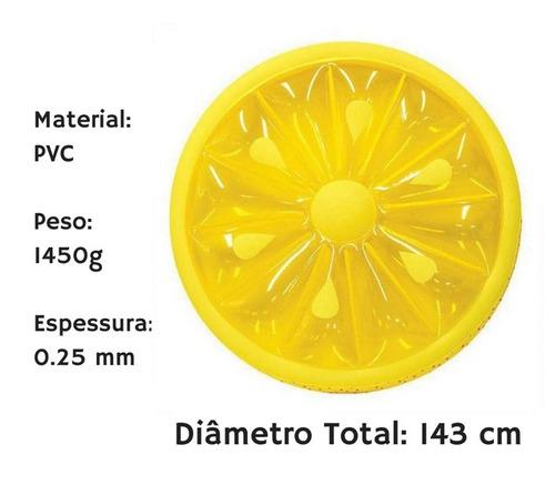 bóia inflável gigantes limão siciliano - pronta entrega