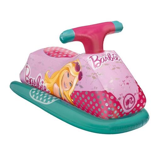 bóia inflável jet ski infantil bebê praia e piscina barbie