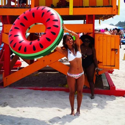boia inflável melancia gigante 120cm + brinde pronta entrega