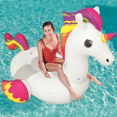 boia inflável unicornio gigante mor