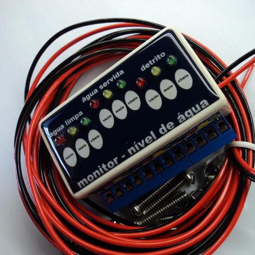 bóia nível eletrônica10 a 30vdc para 3 caixas pra motorhome
