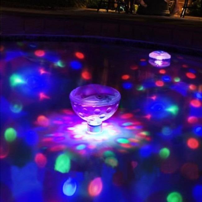 Boia piscina led aquatico decora o rgb festa colorido - Leds para piscinas ...